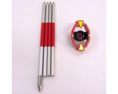 ORIGINAL LEICA GMP111 Mini prism with original aluminum pole (Pre-Owned)