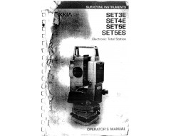 Sokkia SET3E Instruction Manual