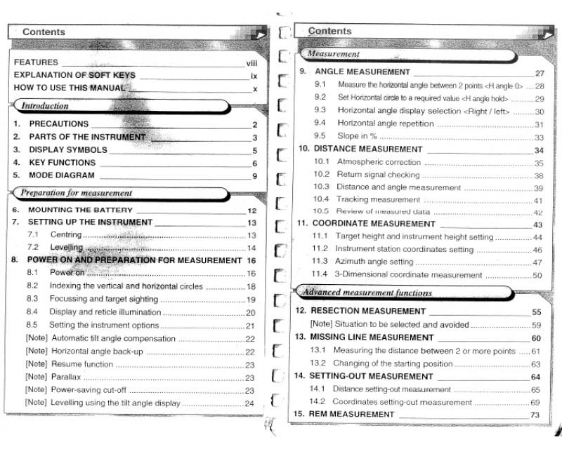 Sokkia SET3E Instruction Manual